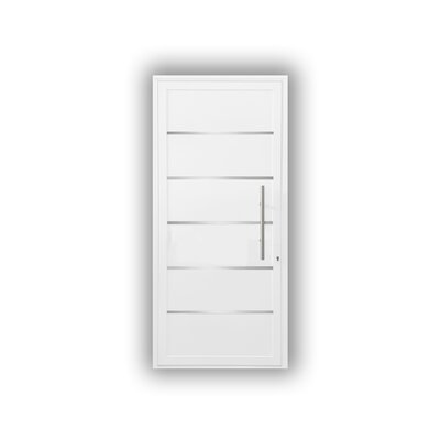 Electra Standard Jamb Finished Prehung Front Entry Door Cbwwindowsanddoors Door Size 80 H X 32 W X 263 D Door Handing Right Hand Inswing Finis
