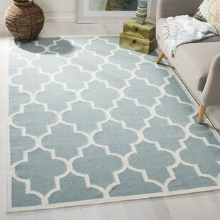 Summer Hand-Woven Wool Light Blue/Ivory Area Rug by Safavieh