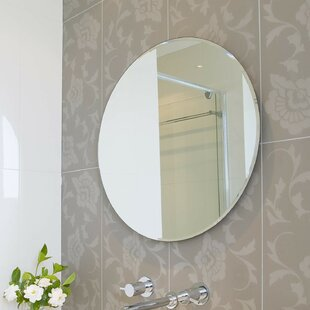 Compare Beveled Polished Frameless Wall Mirror with Hooks By Fab Glass and Mirror