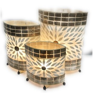 Malloway Shell 3 Pieces Table Lamp Set