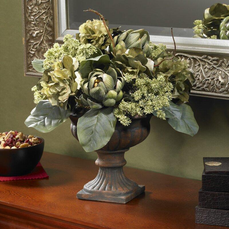 Astoria Grand Artichoke Mixed Centerpieces In Pot Reviews Wayfair