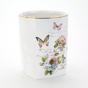 Avanti Linens Butterfly Garden Waste Basket