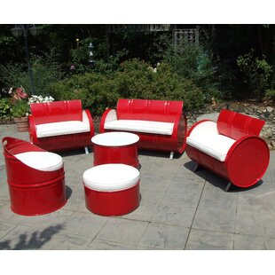 6 Piece Sofa Set with Cushions