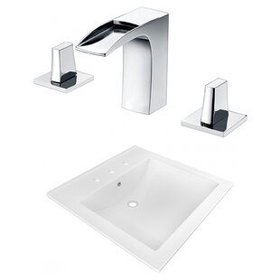 Buying Ceramic Rectangular Drop-In Bathroom Sink with Faucet and Overflow ByAmerican Imaginations