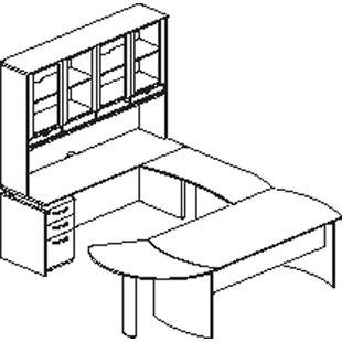 Mayline Group Napoli 8-Piece U-Shape Desk Office Suite