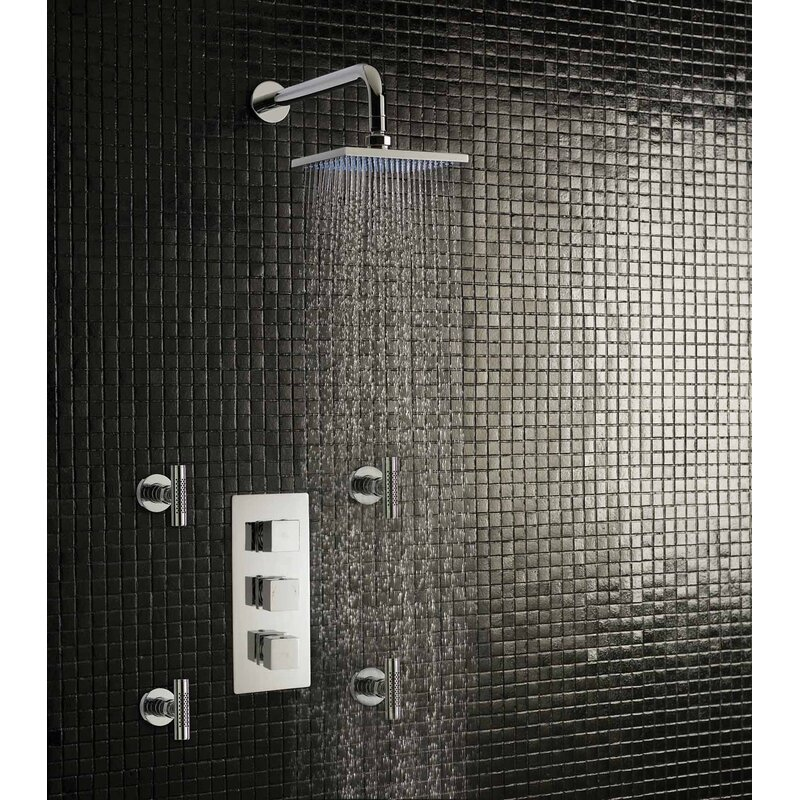 Hudson Reed Kubix Triple Concealed Thermostatic Shower Valve ...