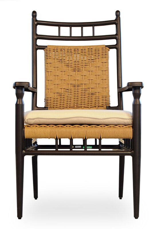 Elegant Low Country Patio Dining Chair With Cushion By