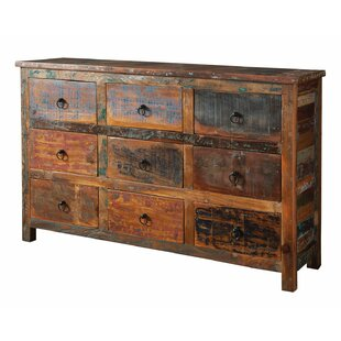 Lovely Lance Reclaimed Wood 9 Drawer Accent Chest