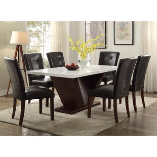 marble dining room table Genuine Marble Dining Table | Wayfair marble dining room table