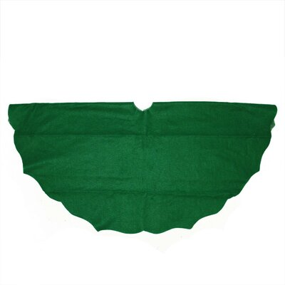 """The Holiday Aisle Christmas Traditions Scalloped Edge Christmas Tree Skirt Size: 38"""" H x 38"""" W"""