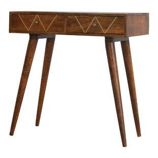Malone 2 Drawer Solid Wood Console Table By George Oliver