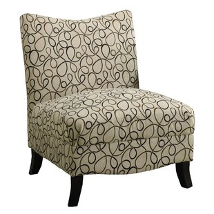 Swirl Fabric Slipper Chair by Monarch Specialties Inc.