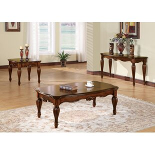 Astoria Grand Welsh 3 Piece Coffee Table Set