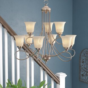 Three Posts Norwood 9-Light Shaded Chandelier