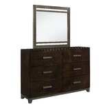McMullen 6 Drawer Double Dresser with Mirror by Red Barrel Studio®