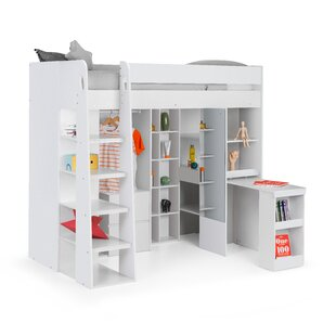 Alexio Single High Sleeper Bed With Shelves By Isabelle & Max