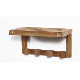 ARB Teak & Specialties Wall Shelf with 4 ..