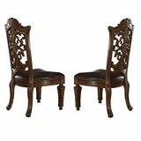 Westra Queen Anne Back Side Chair in Brown (Set of 2) by Astoria Grand