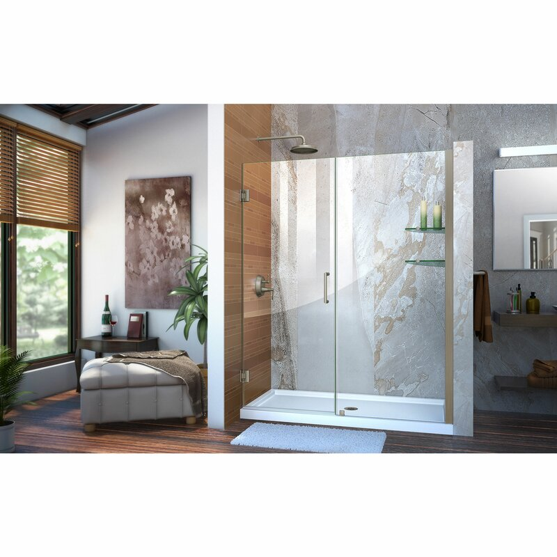 Unidoor 72\  x 59\  Hinged Frameless Shower Door with ClearMax™ Technology  sc 1 st  Wayfair & DreamLine Unidoor 72\