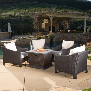 Shadai 5 Piece Conversation Set with Cushions