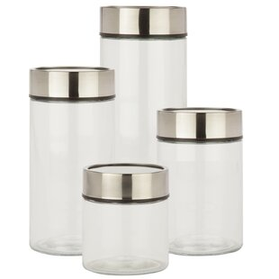 Date Dial 4 Piece Kitchen Canister Set