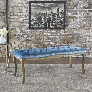 Ophelia & Co. Samaira Velvet Upholstered Bench