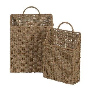 seagrass wicker basket set