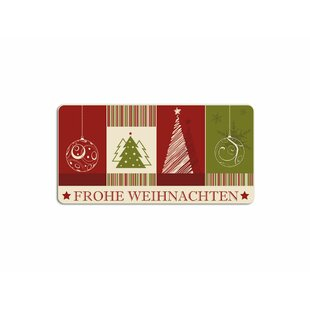 Frohe Weihnachten, Christmas Trees Wall Sticker By Happy Larry