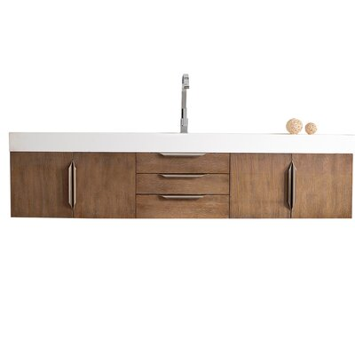 Brayden Studio Whitstran 73 Wall-Mounted Single Bathroom Vanity Set