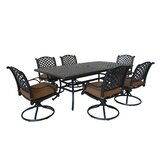 Waddington 7 Piece Dining Set with Sunbrella Cushions