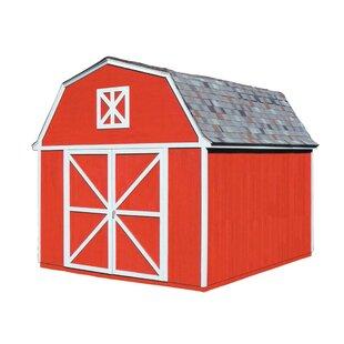 Handy Home Berkley 10 ft. 10 in. W x 14 ft. 2 in. D Wood Storage Shed