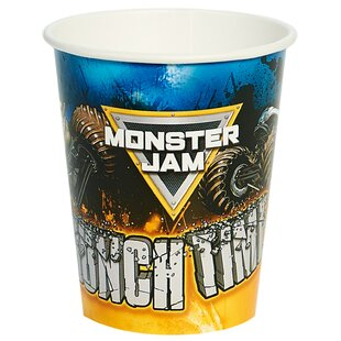 Monster Jam Paper Disposable Cups (Set of 8)