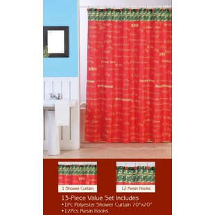 Great choice Christmas Shower Curtain Set By Dainty Home