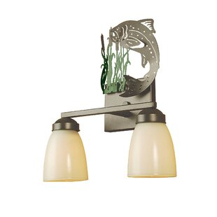 Meyda Tiffany Leaping Trout 2-Light Vanity Light