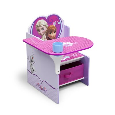 Disney Frozen Kids Desk Chair With Storage Compartment And Cup Holder