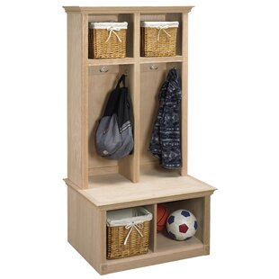 Arthur W. Brown 2 Piece Sit and Store Hall Tree Set