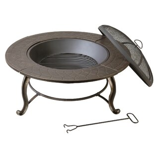 DeckMate Provincial Steel Wood Burning Fire Pit Table