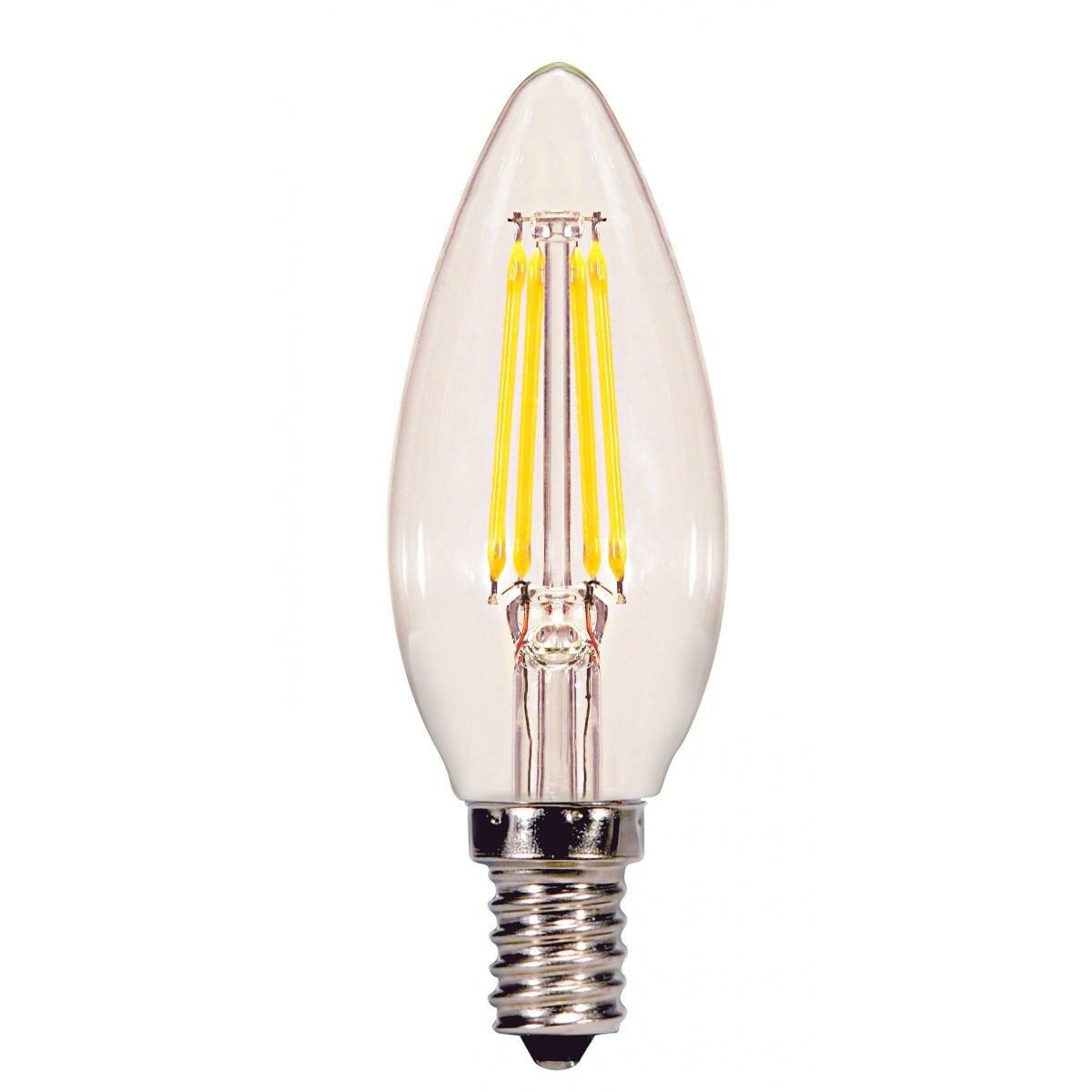 40 Watt Equivalent C11 Led Dimmable Light Bulb 3000 E12 Candelabra Base Allmodern