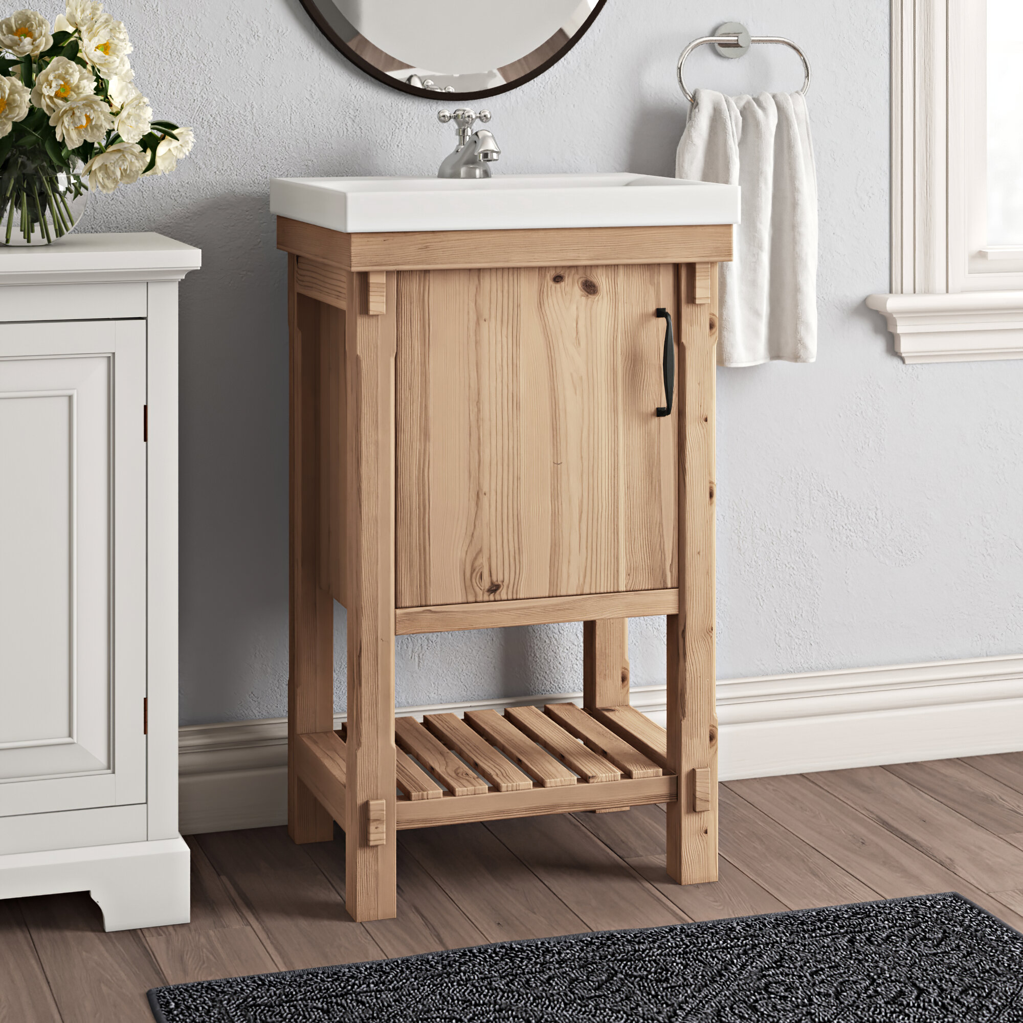 Union Rustic Whitten Rustic 20 Single Bathroom Vanity Set Reviews Wayfair