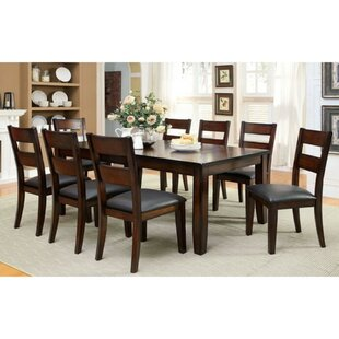 McFetridge Transitional 9 Piece Solid Wood Dining Set