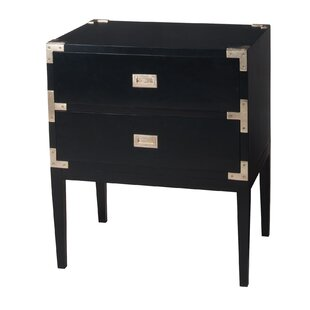 Bourget Faux Leather 2 Drawer Accent Chest by Everly Quinn