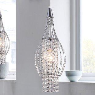 Warehouse of Tiffany Xyza 1-Light Crystal Pendant