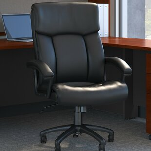 Stanton Plus High Back Ergonomic Genuine Leather Executive Chair by Bush Business Furniture