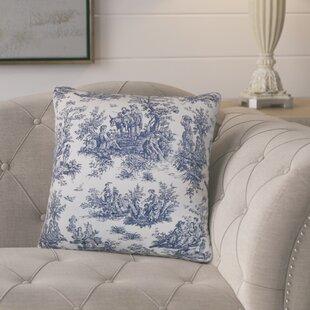 Andruska Toile Cotton Throw Pillow (Set of 2)