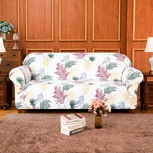 Stretch Leaf Printed Loveseat Slipcovers By Bay Isle Home