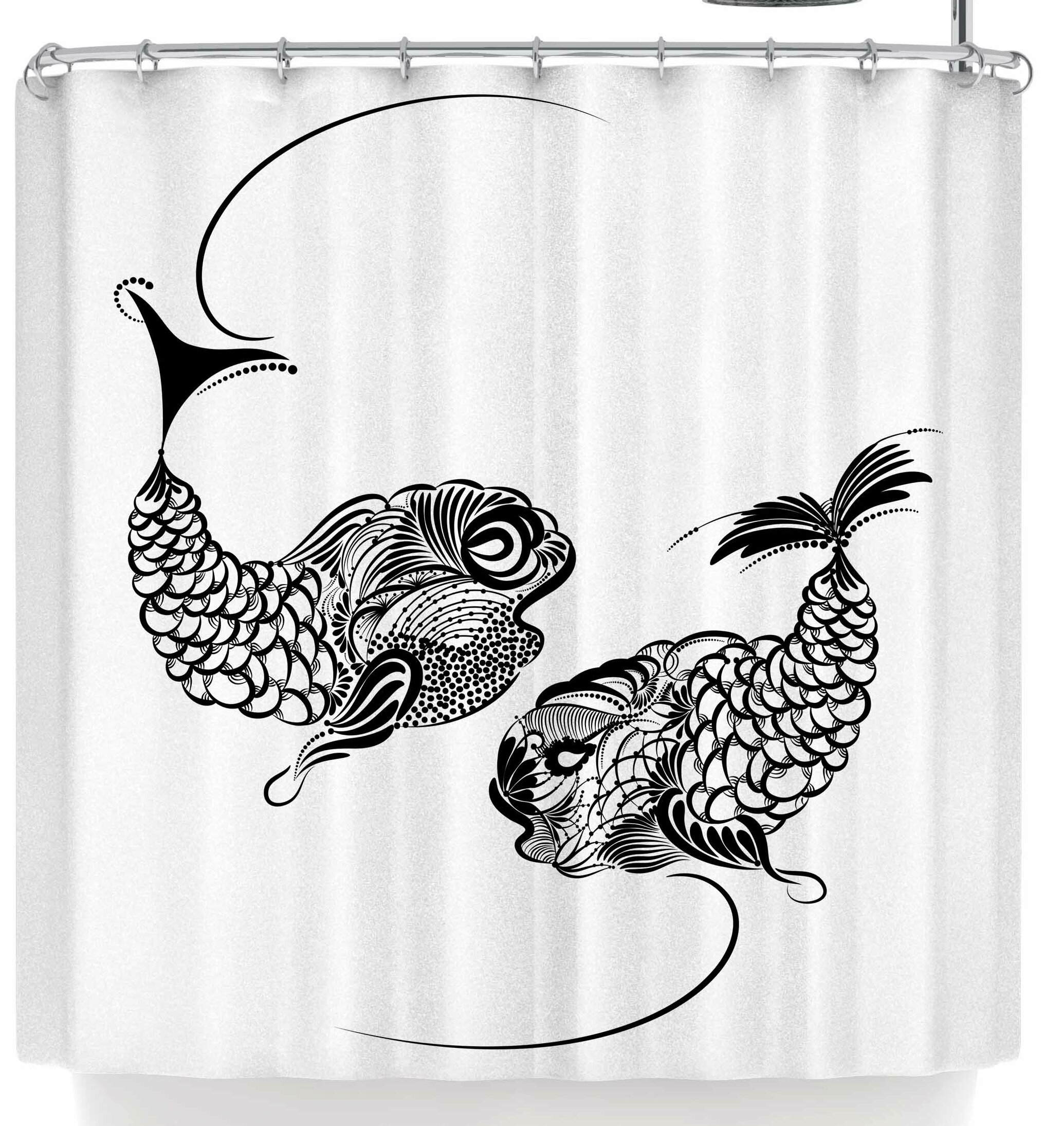 Essential Home Allure Fish Wish Tropical Fish Shower Curtain