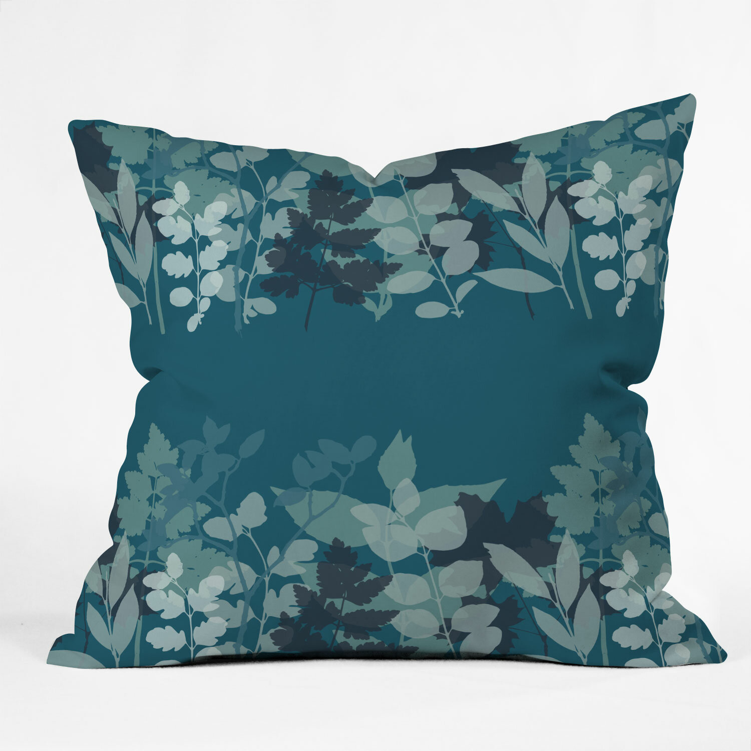 East Urban Home Mareike Boehmer Leaves Row Throw Pillow Wayfair
