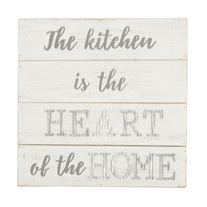 Kitchen Is the Heart of the Home Wood Wall Du00e9cor