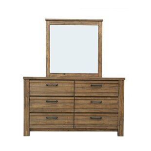 Hassler 6 Drawer Double Dresser with Mirror