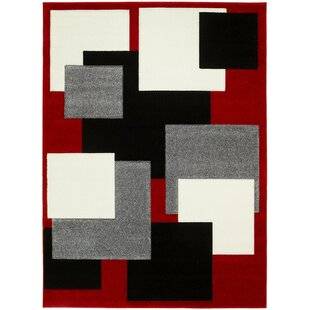 Buying Ty Hand-Carved Red/Gray/Black Area Rug By Latitude Run